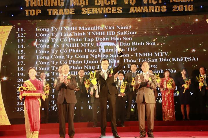 PSA nhận Giải thưởng Thương mại dịch vụ 2016