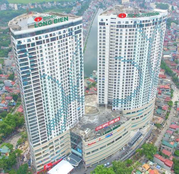 Tháp đôiMIPEC Riverside cao 162m là tổ hợp cao nhất quận Long Biên